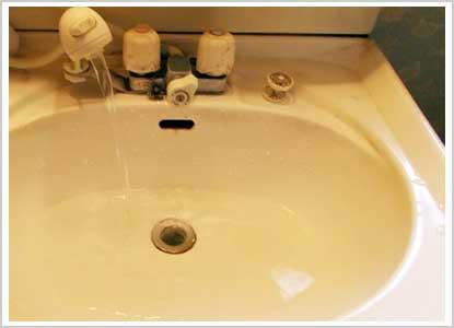 洗面所排水のつまり
