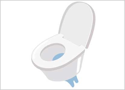 トイレ便器下からじわじわと水が出てくる水漏れ